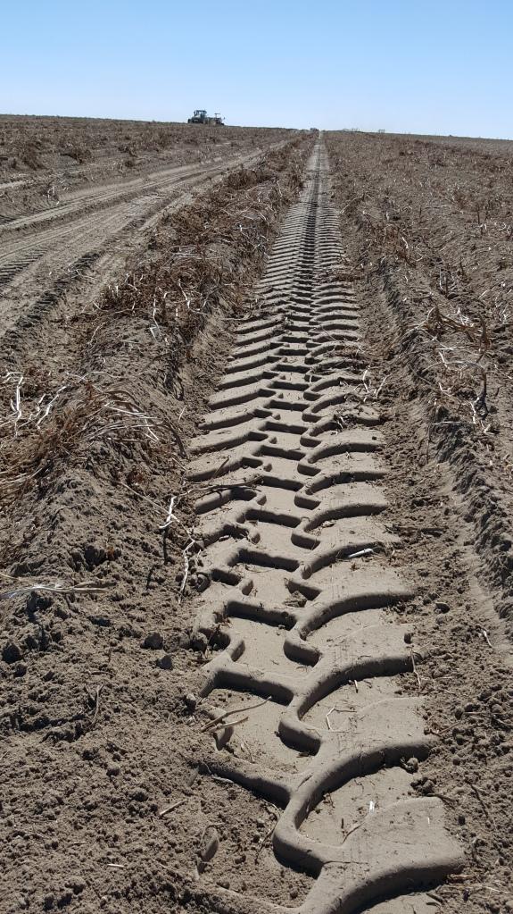 Marca de llanta de Tractor