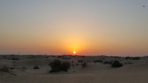 El sol, a punto de desaparecer y llevarse el calor.
