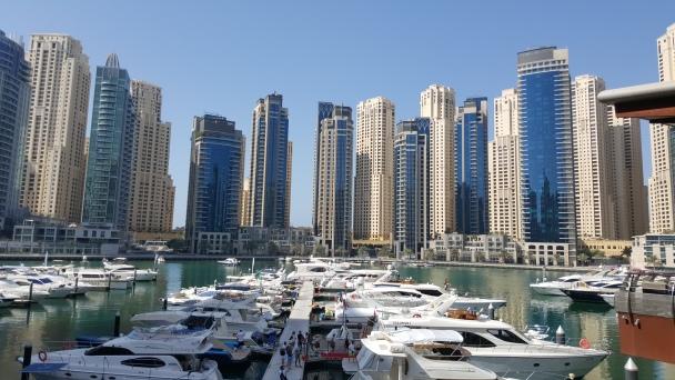 Vista de la Marina de Dubai