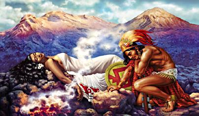 Foto de Inside México Leyenda de la Mujer Dormida y el Popocatépetl